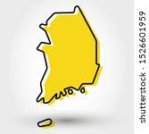 modern outline map of south... | Shutterstock .eps vector #1526601959