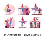 housework illustration set....