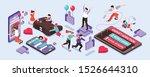gadget addiction isometric... | Shutterstock .eps vector #1526644310