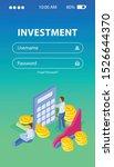 investment isometric background ...