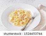Portion Of Shrimp Alfredo Pasta ...