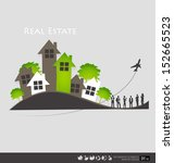 real estate house. vector... | Shutterstock .eps vector #152665523
