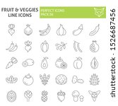 fruits and vegetables thin line ... | Shutterstock .eps vector #1526687456