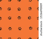 Black Doodle Paw Prints With...