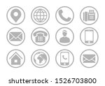 contact information round icon...   Shutterstock .eps vector #1526703800