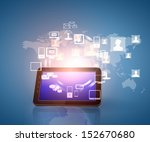 social network  communication... | Shutterstock . vector #152670680