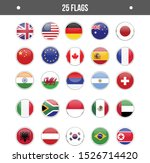 25 counry flag icon eps. usa uk ... | Shutterstock .eps vector #1526714420