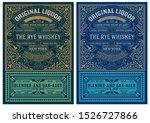 viintage label design. ornate... | Shutterstock .eps vector #1526727866