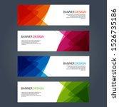 vector abstract design banner... | Shutterstock .eps vector #1526735186