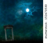 Spooky Halloween Graveyard Wit...