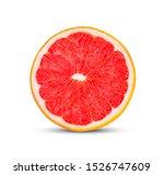grapefruits isolated on white... | Shutterstock . vector #1526747609