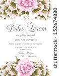 invitation or wedding card with ... | Shutterstock .eps vector #152674880