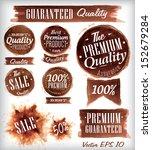 set of watercolor old premium... | Shutterstock .eps vector #152679284