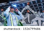 engineers are using virtual... | Shutterstock . vector #1526799686