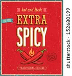 vintage extra spicy poster.... | Shutterstock .eps vector #152680199