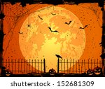 halloween night background with ... | Shutterstock . vector #152681309