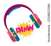Headphones And Pop Art Design...