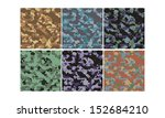 camouflage seamless pattern   4 ... | Shutterstock .eps vector #152684210