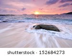 sunset  waves and beach in kota ... | Shutterstock . vector #152684273