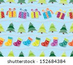 seamless pattern with christmas ... | Shutterstock .eps vector #152684384