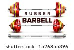 rubber barbell lifting... | Shutterstock .eps vector #1526855396