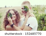 a young couple in love in the... | Shutterstock . vector #152685770