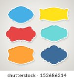 set of colorful vintage labels  ... | Shutterstock .eps vector #152686214