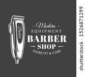 barbershop label isolated on... | Shutterstock .eps vector #1526871299