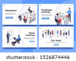 workplace landing page. office... | Shutterstock . vector #1526874446