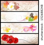 set of abstract floral...   Shutterstock .eps vector #152688248