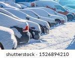 Parking Lot With Cars Sunlit...