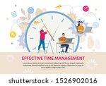 effective time management...   Shutterstock .eps vector #1526902016