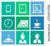 business flat icons set 1  ...