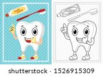 Cartoon Tooth With Toothpaste...