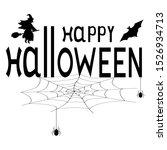 happy halloween text logo.... | Shutterstock . vector #1526934713