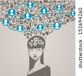 social network head with... | Shutterstock .eps vector #152694260