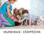 clown entertaining preschool...   Shutterstock . vector #1526952146