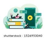 online education  e learning ... | Shutterstock .eps vector #1526953040