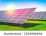 ecological solar power plant... | Shutterstock . vector #1526965646