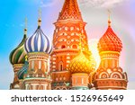 st. basils cathedral on red... | Shutterstock . vector #1526965649