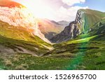 beautiful grassy valley in the... | Shutterstock . vector #1526965700