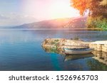 ohrid lake in macedonia at... | Shutterstock . vector #1526965703