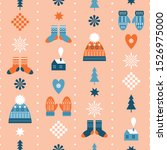seamless christmas background ... | Shutterstock .eps vector #1526975000