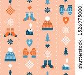 seamless christmas background ... | Shutterstock .eps vector #1526975000
