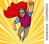 man retired superhero. health... | Shutterstock .eps vector #1526983043