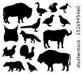 wild animals and birds... | Shutterstock .eps vector #1526995460