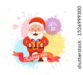 cartoon santa claus for your... | Shutterstock . vector #1526999300