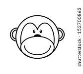 Drawing Monkey Outlines