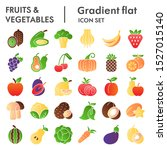 fruits and vegetables flat icon ... | Shutterstock .eps vector #1527015140