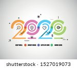 Happy New Year 2020 Logo Text...